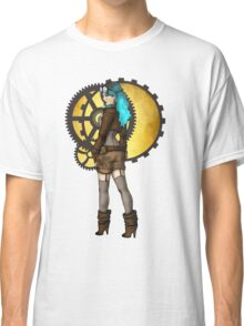 Steampunk Girl Pinup Classic T-Shirt
