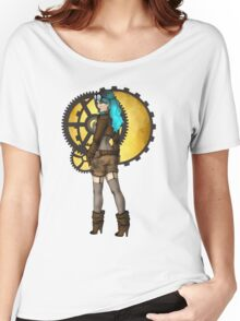 Steampunk Girl Pinup Women's Relaxed Fit T-Shirt