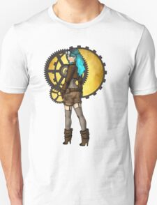 Steampunk Girl Pinup Unisex T-Shirt