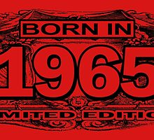 born in 1965 limited edition by trendz