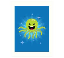 Happy Octopus Art Print