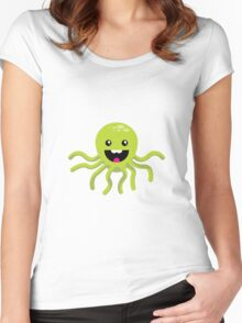 Happy Octopus Women's Fitted Scoop T-Shirt
