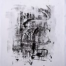 Contraintes et Abandon #5 - Monotype on Wenzhou Paper  by Pascale Baud