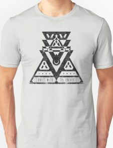 Connect With The Universe - Typography and Geometry T-Shirt