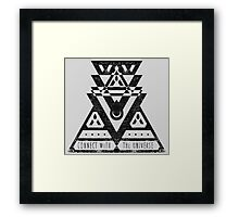 Connect With The Universe - Typography and Geometry Framed Print