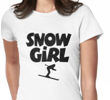 Snowgirl Apres Ski Womens Fitted T-Shirt