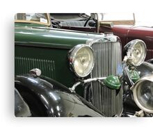 Green Sunbeam Car Canvas Print
