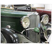 Green Sunbeam Car Poster