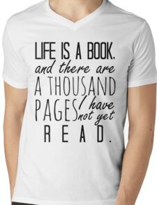 """Life is a book. . ."" - Will Herondale Quote Mens V-Neck T-Shirt"