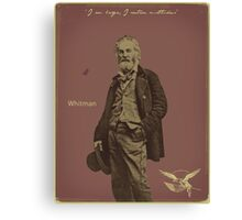 Whitman Canvas Print