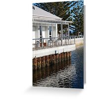 seascapes #239, rust upon water Greeting Card