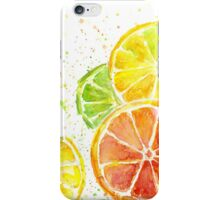 Citrus Watercolor Fruit Painting iPhone Case/Skin