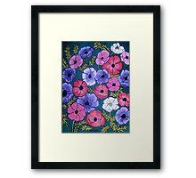 Many Coloured Anemones Framed Print