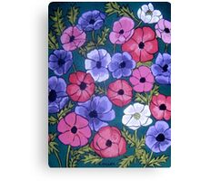 Many Coloured Anemones Canvas Print