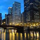 Dearborn Street Bridge at Night by Kelly Chiara