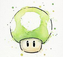 Green 1UP Mushroom by OlechkaDesign