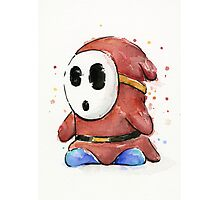 Shy Guy Watercolor Photographic Print