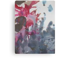 Sea Splotch abstract blue and magenta design watercolor Canvas Print
