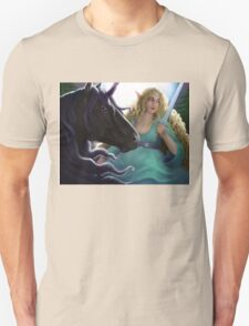 Elf on a Unicorn with a Sword T-Shirt