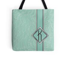 1920s Blue Deco Swing with Monogram letter K Tote Bag