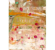 BREATHE inspirational contemporary abstract painting Photographic Print