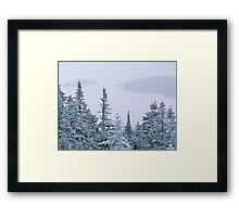 Snowstorm on Bald Mountain Framed Print