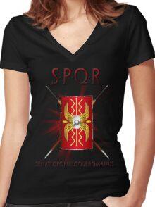 SPQR Women's Fitted V-Neck T-Shirt
