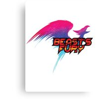 Beast's Fury Design T-shirt Canvas Print