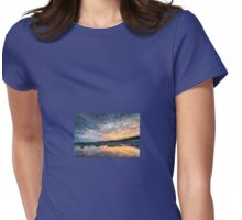 Sunset Reflections at Llantwit Major Beach, Wales. Uk Womens Fitted T-Shirt