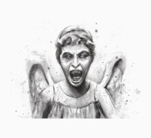 Weeping Angel Watercolor - Doctor Who Fan Art Kids Clothes