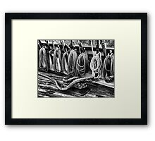 Rigging at the Ready Framed Print