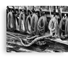 Rigging at the Ready Canvas Print