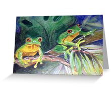 just two frogs Greeting Card