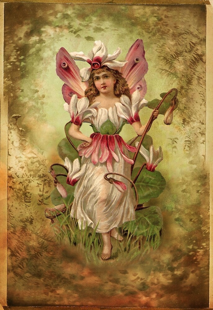 Vintage Flower Fairy by © Kira Bodensted