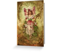 Vintage Flower Fairy Greeting Card