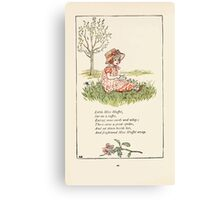 Mother Goose or the Old Nursery Rhymes by Kate Greenaway 1881 0044 Little Miss Muffet Canvas Print