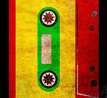 Reggae Flag Cassette Tape - Cool Grunge Reggae Music Design by ddtk