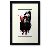 Dark Gas Mask Nun Framed Print