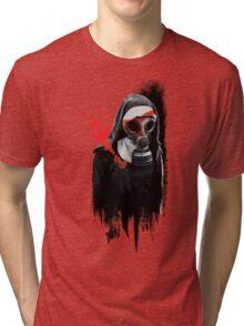 Dark Gas Mask Nun Tri-blend T-Shirt