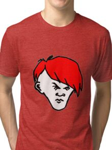 Youth(white face and red hair) Tri-blend T-Shirt