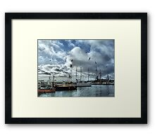 The Fleets In!  Framed Print