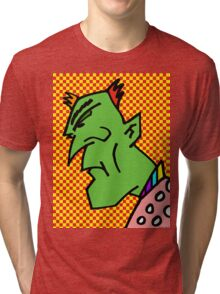 Sad Green Man Tri-blend T-Shirt