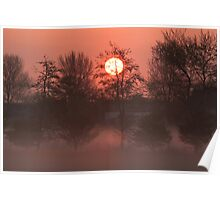 A sunrise in the fog Poster