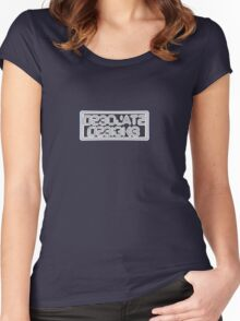 Desolate Designs logo Women's Fitted Scoop T-Shirt