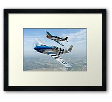 Mustangs! Framed Print