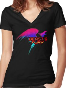 Beast's Fury Design T-shirt Women's Fitted V-Neck T-Shirt
