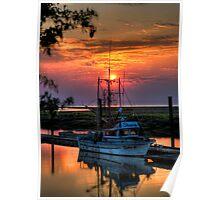 Sunset Over Scotch Pond Poster