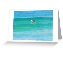 Facing the Wave Greeting Card