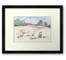 The worst is over... Framed Print