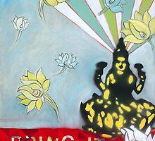 Bring IT Lakshmi goddess of Abundance Spiritual Art by JodiFuchsArt